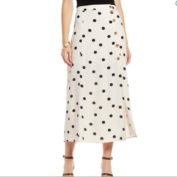 NWT Something Navy High Waisted Midi Skirt